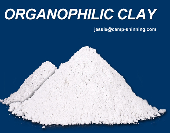 Organophilic bentonite clay